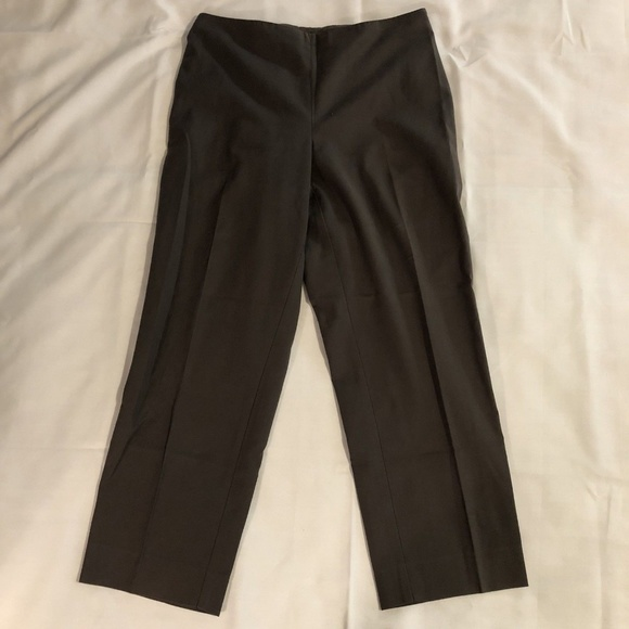 14 NWT St John Emma Fit Women/'s Navy Silk Pants SZ